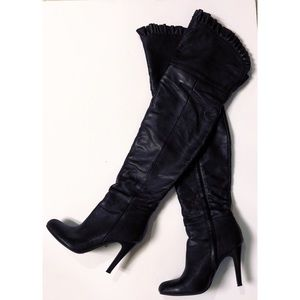 Rue21 Ruffled Over The Knee Boots
